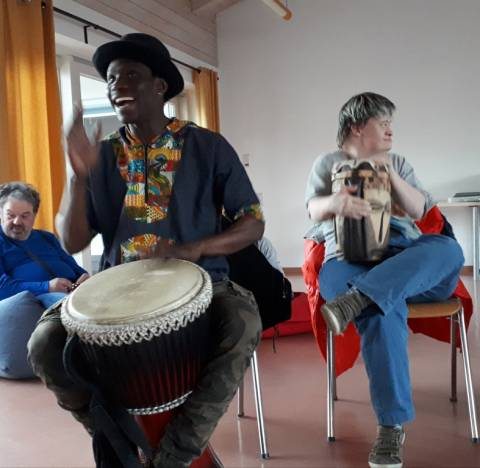 Trommelworkshop bei der Lebenshilfe Berchtesgadener Land