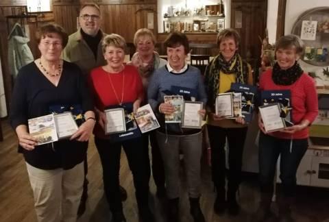 Verdiente ehrenamtlich Tätige der Lebenshilfe Berchtesgadener Land wuden verabschiedet