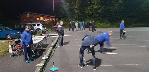 Die Stocksport Athleten der Lebenshilfe Berchtesgadener Land mit dem WSV Königssee.