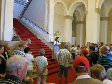 Fahrt in den bayrischen Landtag